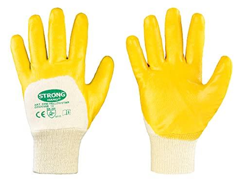 12 Paar Stronghand - Arbeitshandschuh Yellowstar Gr. 11