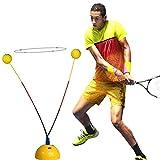 Hxsm Soft Rod Tennis Trainer máquina Tenis práctica Herramienta Hit Entrenamiento máquina Tenis Raqueta Equipo de Entrenamiento Tenis Accesorios-Amarillo
