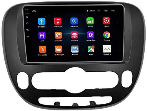 AEBDF Android 10 GPS Navegación para KIA Soul 2014, Pantalla Táctil estéreo de automóvil IPS 2.5D, Sat Nav Multimedia Player Support View View Cámara SWC WiFi