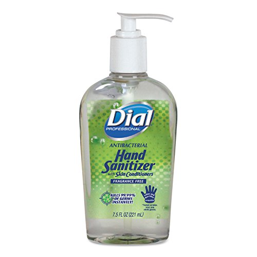Dial Antibacterial Instant Hand Sanitizer - Fragrance Free, 7.5 Ounce - 12 per case.