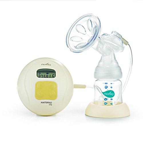 Nuvita 1286 Materno Life TiraLatte elettrico a 2 fasi + 1 - Tiralatte elettronico con potenza di aspirazione regolabile e opzione per il massaggio anti-dolore e ingorgo. Ricambi Disponibili