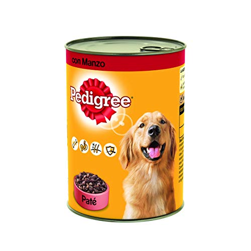 Pedigree Paté con Manzo Lattina 405 g - Cibo per Cane - 24 Lattine