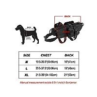 戦術的な犬の訓練モールベストハーネス取り外し可能なポーチ付きペットベストミディアムラージドッグ用ミリタリーK9ハーネスコヨーテブラウンイン,Black,XL
