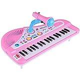 Teclado Electrónico Portátil 37 Teclado De Piano De Tecla Con Función De Grabación Micrófono Multifunción Teclado Eléctrico Para Principiantes Para Niños Adultos Para Niños Teclado Juguete Instrumento