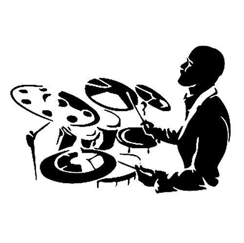 luyiwzd Auto Sticker Vinyl Decal Laptop Sticker Interessante Saxofoon Bass Symbool Muziek Decor Vinyl Auto Sticker 14.7Cmx9.8Cm Zwart