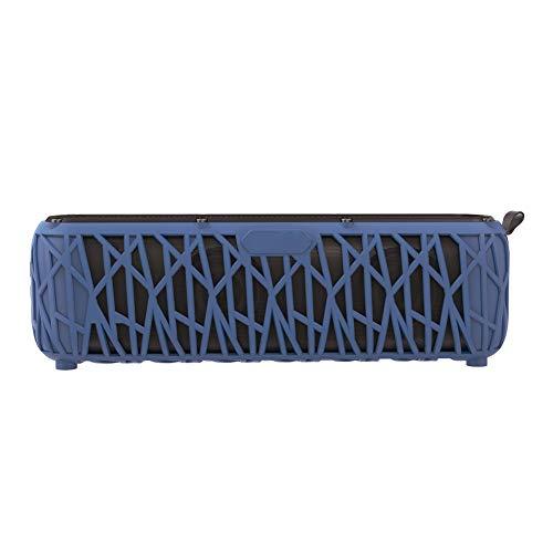 Y-SOUND Solar-Ladegerät, Wasserdichter Subwoofer Für Den Außenbereich, Intelligenter Kabelloser Bluetooth-Lautsprecher, Wasser- Und Staubdicht Nach IP67, 60 Stunden Spielzeit,Blue