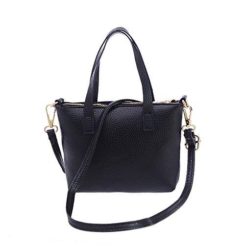 iHENGH Handbag Borse A Spalla Rgazza In Pu Pelle 2019 Nuovo Borsa A Mano Donna Moda Semplice Elegante Donna Borsette Casual Work Nero Rossa Inverno Shopping Estate
