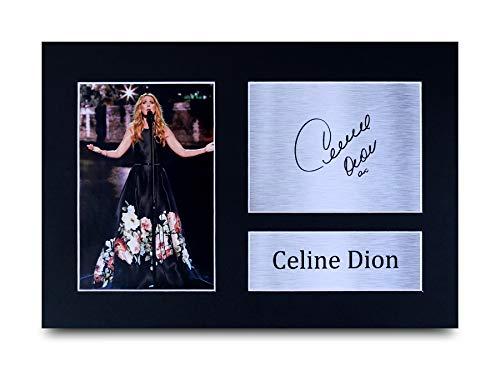 HWC Trading Celine Dion A4 Ungerahmt Signiert Gedruckt Autogramme Bild Druck-Fotoanzeige Geschenk Für Musik-Fans
