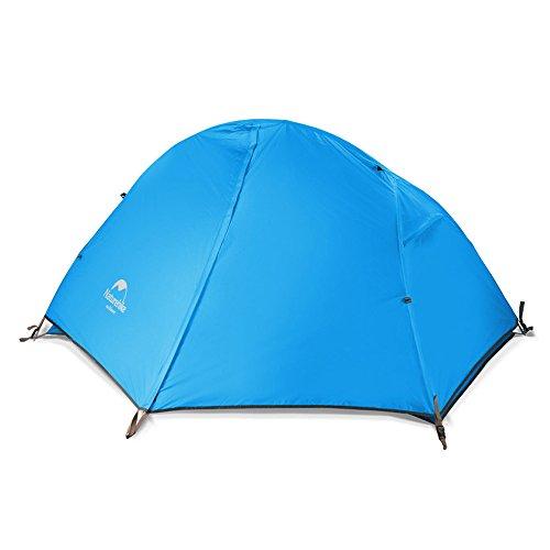 Naturehike Tienda Ultraligera Tienda de Trekking para 1 Persona Tienda 3-4 Temporada para Acampar Senderismo (Blue)