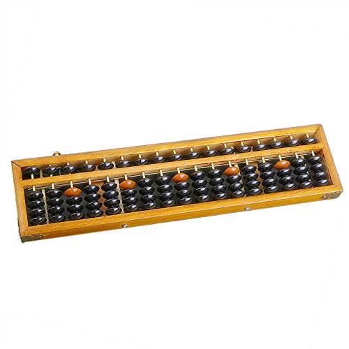Toygogo Vintage Style Abacus Professional 17 Column Soroban Calculator without Reset Button Craftsmanship