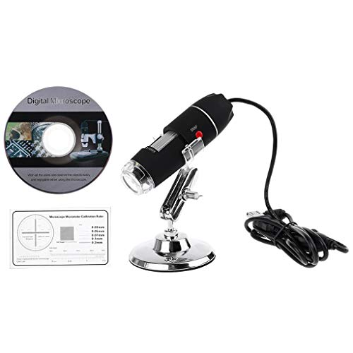 1600X Kamera 8LED OTG Endoskop USB Digital Mikroskop Vergrößerung mit Ständer