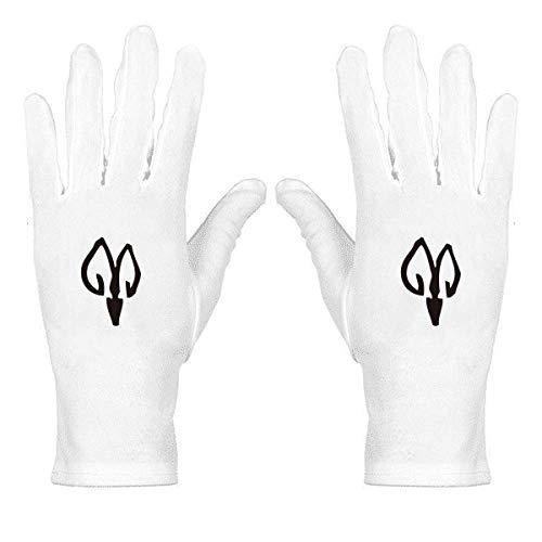 Knochen Inschriften Chinesisches Tierkreiszeichen Schaf, weiß, Nylon, Etiquette Handschuhe Handgelenkschutz