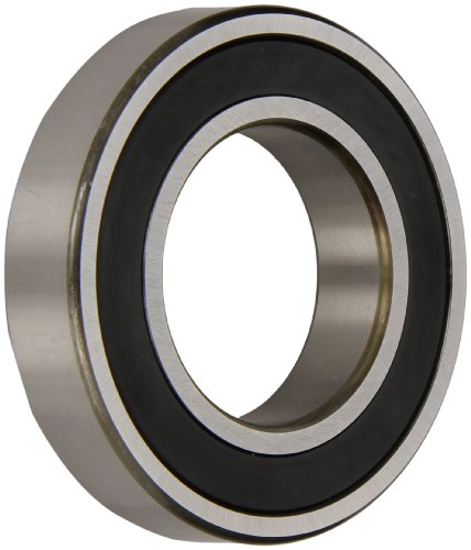 NSK 6203VV Deep Groove Ball Bearing, Single Row, Double Sealed, Non-Contact, Pressed Steel Cage, Normal Clearance, Metric, 17mm Bore, 40mm OD, 12mm Width, 17000rpm Maximum Rotational Speed, 1079lbf Static Load Capacity, 2147lbf Dynamic Load Capacity