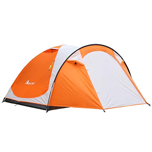MOON LENCE Outdoor Camping Tent 3 to 4 Person Tent with Screen Room Double Doors amp Double Layer Waterproof Design 2000MM