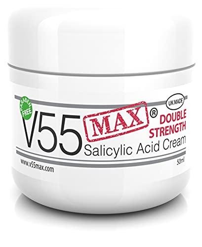 V Series Creams - Crema V55 MAX De Doble Eficacia Con Ácido Salicílico Para Granos Puntos Negros Rojeces y Piel Problemática SIN Parabenos 50 Gramos