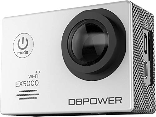 DBPOWER D2 4K Action Camera 12MP Ultra HD Waterproof Sports Cam with Built-in WiFi 2 Inch LCD Screen Plus 1050mAh Rechargeable Battery and 2.4G Remote Control