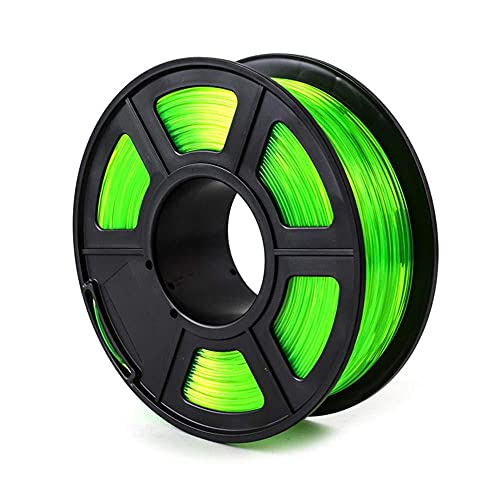 PETG-Filament 1,75mm 3D-Drucker Filament Gute Lichtübertragung 1kg Spule-Transparentes Grün_1,75mm