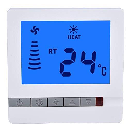 Fan Coil Controlador de Temperatura Sala Termostato LCD Control de Temperatura del Piso Instrumento Termostato Sensor NTC, 5~35 ° C