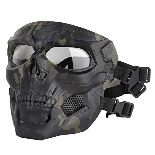 ATAIRSOFT Schädel Airsoft Integralhelm Maske Horror CS Halloween Schutz Maskerade Party Cosplay Outdoor Taktische Maske (MCBK)
