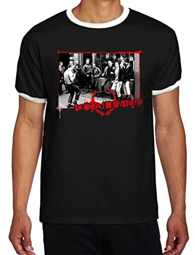 Moonstomp Skinhead Oi Punk - Camiseta de manga corta para hombre, Negro, M