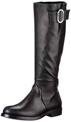 HUGO Damen Piper Flat Boot-S Stiefel, Black1, 35 EU