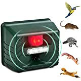 Best Ultrasonic Pest Repeller Birds - YONGCHY Ultrasonic Animal Repellent, Outdoor Alarm Sound Flash Review