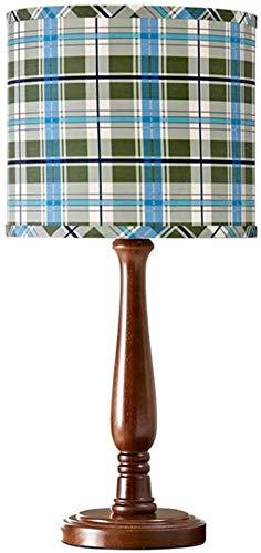 Lámpara de escritorio niños de la lámpara de tabla Dormitorio Sala de la lámpara de cabecera de la personalidad pantalla de la tela de Brown Lámpara de Madera Titular Dormitorio Oficina de Vida