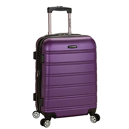 Rockland Melbourne Hardside Expandable Spinner Wheel Luggage, Purple
