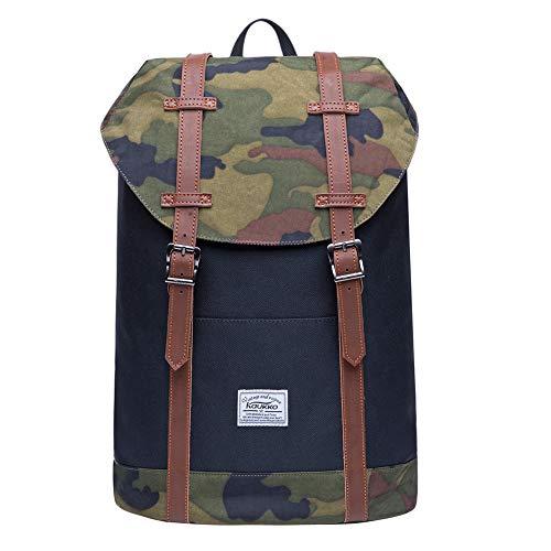KAUKKO Rucksack Damen Herren Schön und Praktisch Rucksack für Schule, Uni, Beruf und Freizeit mit Laptopfach Tasche für den Alltag