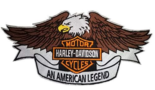 Harley Davidson Eagle, All American Legend - Toppa ricamata per gli appassionati di motociclismo