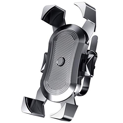 Dealswin - Supporto universale per cellulare da bicicletta e moto, per smartphone da 4,6 a 6,8 pollici, girevole a 360°, rimovibile