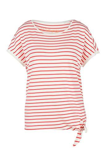 s.Oliver RED LABEL Damen Streifenshirt mit Knoten-Detail coral stripes 42