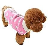 Ropa de Perro Jerseys de Punto de Lana Suéter Cálido Alto Cuello Mascotas (Rosa, S)
