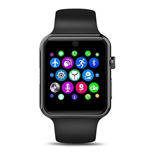 Smart Watch Evershop® con Bluetooth 2.5D, pantalla Arc HD, protector de tarjeta SIM. Dispositivos de uso diario para smartphone, rastreador de actividad, para IOS y Android