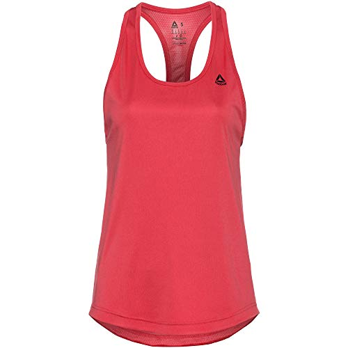 Reebok Us Perform Mesh Tank Camiseta De Tirantes, Mujer, rebred, XL