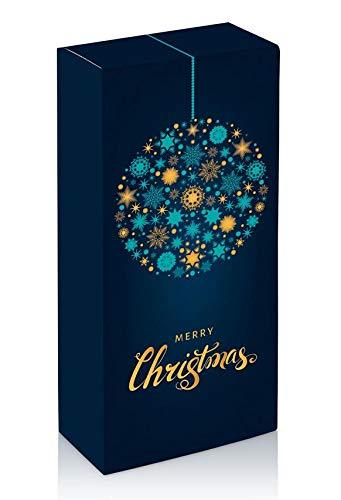 10 Stück Weihnachtskugel für Zwei Flaschen Wein- Weinkarton, Weinverpackung, Flaschenkarton - (2 Flaschen)