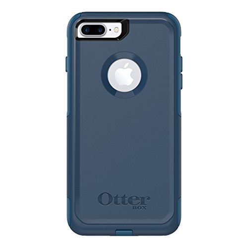 OtterBox COMMUTER SERIES Case for iPhone 8 Plus & iPhone 7 Plus (ONLY) - Retail Packaging - BESPOKE WAY (BLAZER BLUE/STORMY SEAS BLUE)