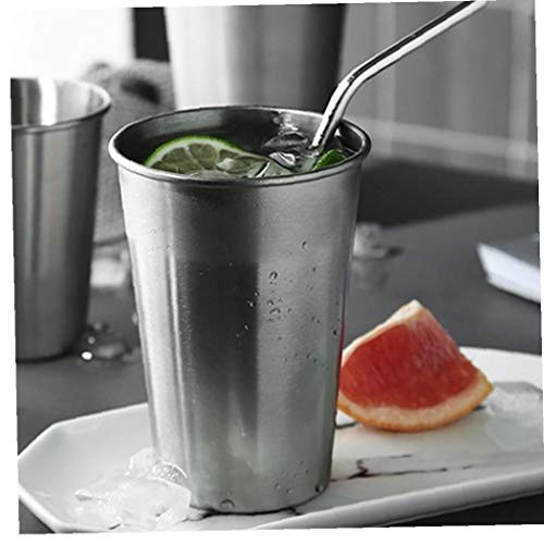 Hotaden 16 Unzen Big-Edelstahl-Becher Ice Beer Tumbler Metall Kaffee-Tee-Trinkbecher Outdoor-Camping-Reise-Becher Wasser-Milch-Becher für Kinder