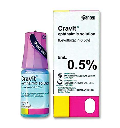 Cravit Best Eye Drops for Inflammation Pet Treat of Dogs, Cats & Animals Of All kinds, Infection Treatment, Veterinary Formula, Fast Results in 3 days. Twice Strong as Most Similar Products 5 ML.