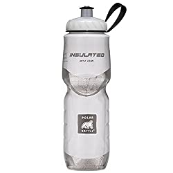 Polar bottle insulated water bottle for cycling. 24 oz white color.
