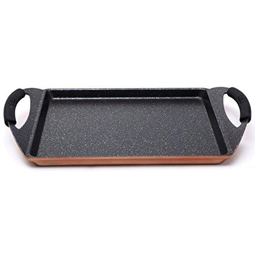Bergner Infinity Chef Piastra grill per induzione, alluminio forgiato, marrone, 30x23 cm