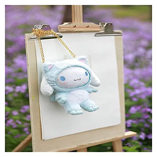 LINLIN Kawaii Anime Peluche Bambola Bambini Cartoon Catena Borsa Messenger Bag Borsa a Tracolla Borsa per Cellulare Borsa per Cellulare Borsa cosmetica Sally (Color : Blue)