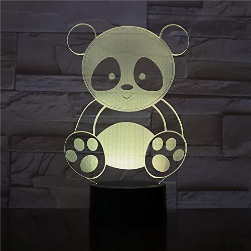 Diseño de Panda de Dibujos Animados Lindo acrílico luz de Noche Cambio Multicolor para Regalos de niños de Regreso a la Escuela