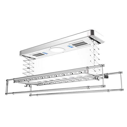 Elektrischer Wäscheständer Vier-Stangen-Teleskopfernbedienung Leises Automatisches Heben Balkon WäSchestäNder Led Beleuchtung + Desinfektion + Wind Dry + Bake Dry