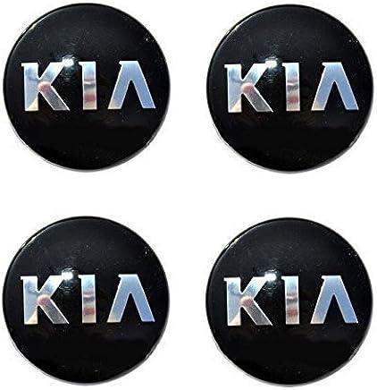 LIGHTKOREA 60mm 4Pcs 3D K Logo Wheel Center Caps Hub Decal Emblem Sticker Badge For Kia Stinger Niro Rio Sorento Sportage Optima Soul Cerato Forte Carnival Sedona Cadenza K900 Picanto Rondo