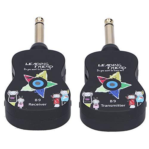 Sistema inalámbrico de audio, receptor de transmisor de guitarra, reverberación resistente, duradera, conveniente, tamaño pequeño para guitarra eléctrica