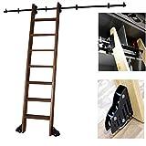 ZRFANS Riel Colgante de la Escalera para el hogar/Interior/Loft/Library/Bookstore Heavy Duty Ladder Ladder Pista de Hardware...