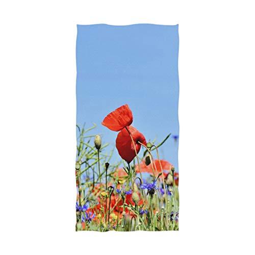 DEZIRO Alpine Cornflower Poppy Toalla de baño Yoga Toalla de baño