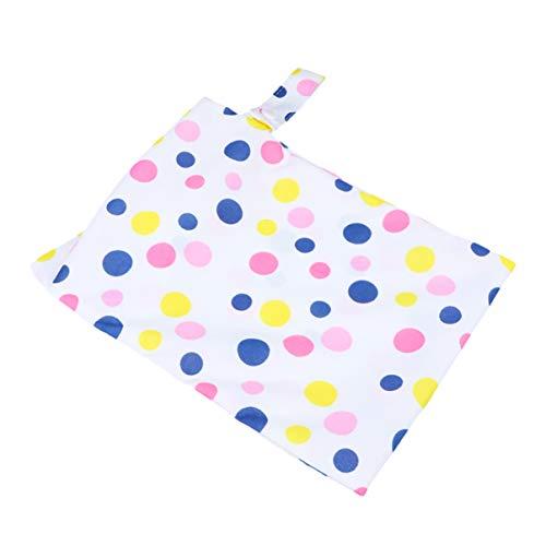 Healifty wasserdichte wiederverwendbare Stoffwindel nass trocken Taschen für Säuglinge Neugeborene (pink dot - Single Layer)