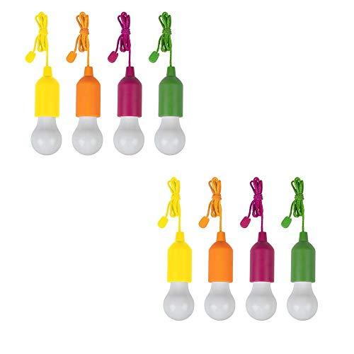 Handy Lux Colors kabellose LED Leuchte in 4 Gehäuse Farben | 8 Stück Lampen | Safe touch Oberfläche | Bruchfest | Garten, Camping, Party, Kleiderschrank | Das Original aus dem TV von Mediashop
